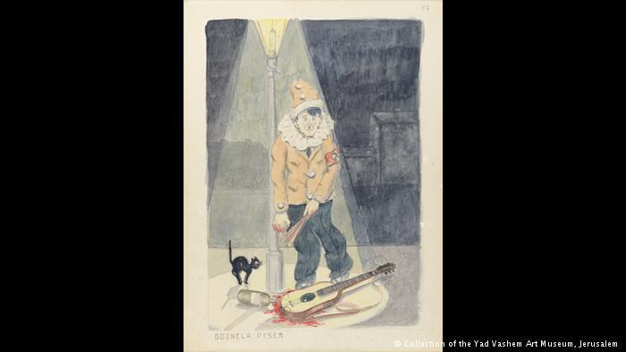 لوحات فنية رسمها ناجون يهود من هولوكوست الإبادة النازية