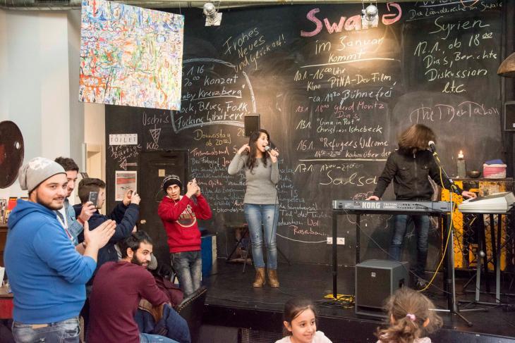 فعاليات اندماجية بين ألمان ولاجئين سوريين في ألمانيا - فوبرتال. الصورة: منصور حسنو