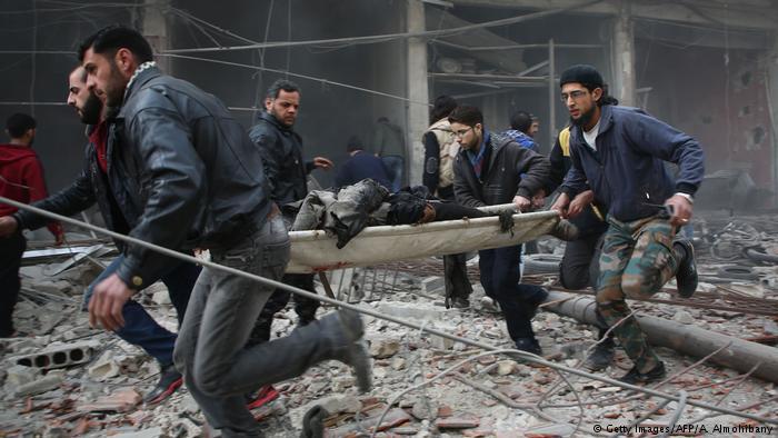 بانتظار الموت في جحيم قصف النظام السوري على الغوطة الشرقية - ريف دمشق - سوريا