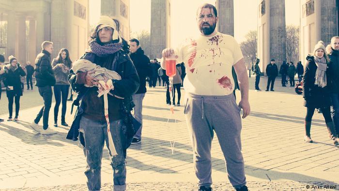 نشطاء سوريون ينقلون مأساة الغوطة إلى شوارع برلين