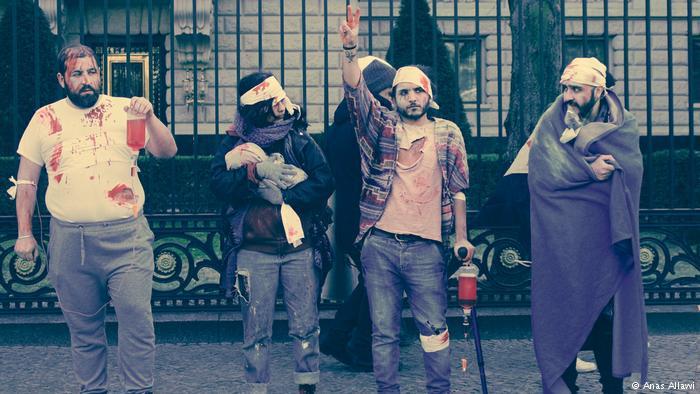 نشطاء سوريون ينقلون مأساة َالغوطة إلى شوارع برلين