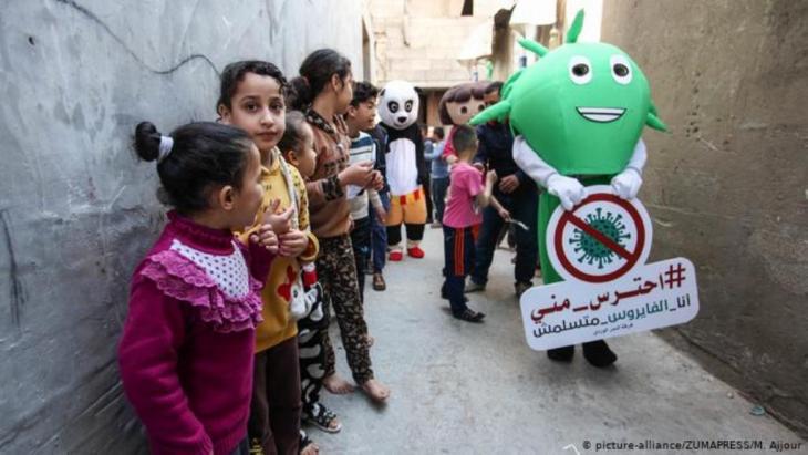 رفع درجة الوعي بخطورة الفيروس. كورونا في غزة