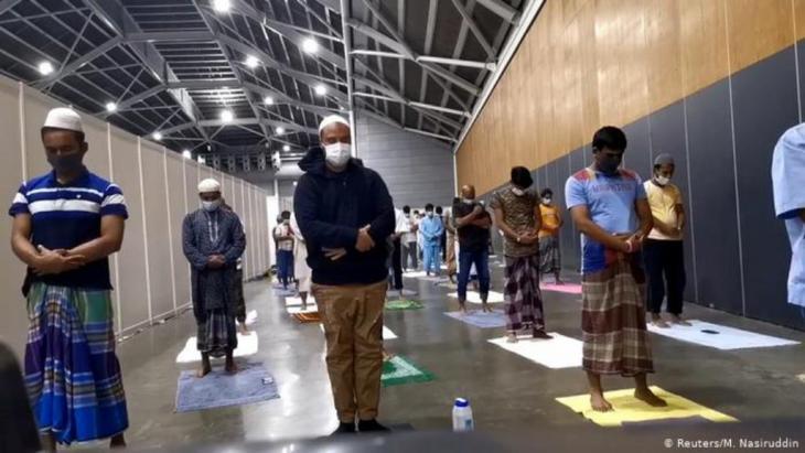 ساحة المعارض للعلاج والصلوات في سنغافورة