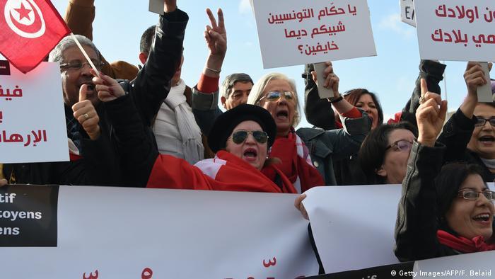 تونس ـ محطات وعرة على درب مخاض ديمقراطي عسير politik_in_tunesien_getty_images