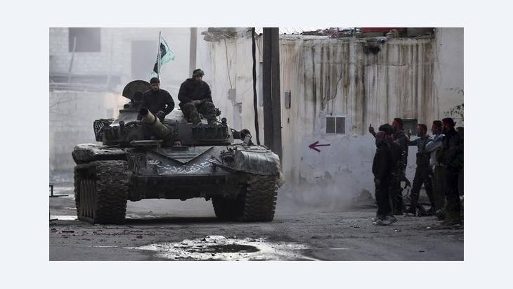 مقاتلو الجيش السوري الحر في ريف دمشق. رويترز