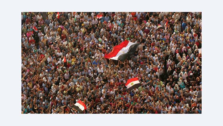 مظاهرة في ميدان التحرير في القاهرة. Reuters