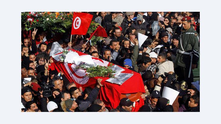 جنازة شكري بلعيد . 8 فبراير 2013. رويترز