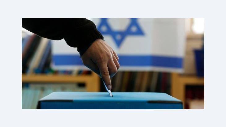 صندوق اقتراع في إسرائيل. رويترز