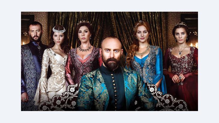 إعلان للمسلسل التركي ''حريم السلطان''. Imago