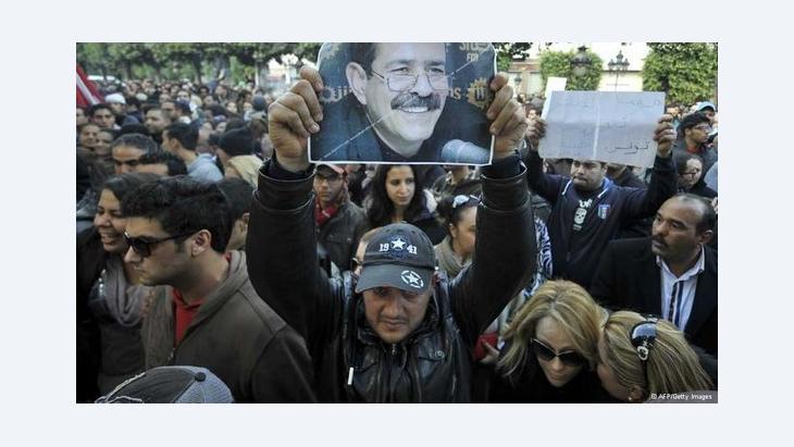 مظاهرات احتجاجية بعد اغتيال شكري بلعيد. أ ف ب