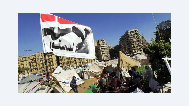 احتجاجات في ميدان التحرير على مشروع الدستور، 10 ديسمبر 2012.   رويترز