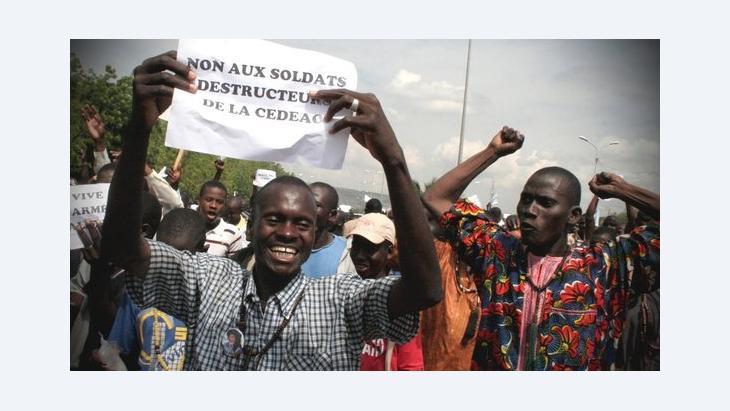 مظاهرة في باماكو ضد التدخل العسكري في شمال مالي. د أ ب د