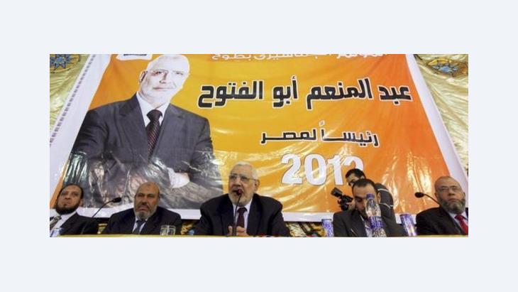 أبو الفتوح متحدثا الصورة رويتر