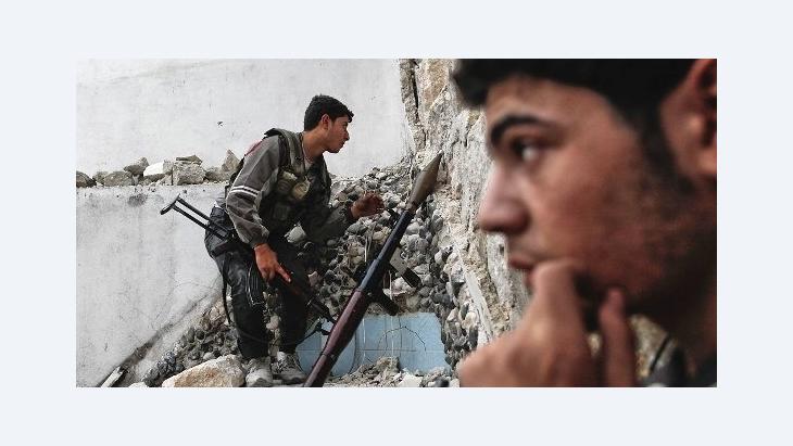 ثوّار في حلب. أ ف ب