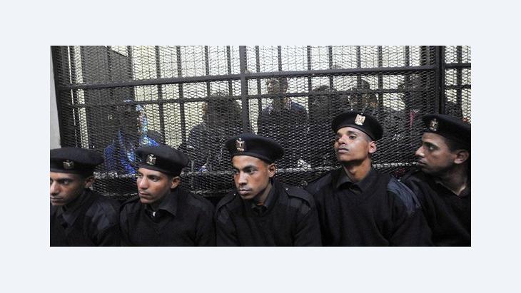 محاكمة موظفي المنظمات الأهلية في مصرن الصورة إيه بي إيه