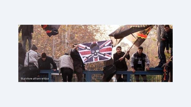 """""""هذه ليست المرة الأولى التي تتعرض فيها سفارة أوروبية أو السفارة البريطانية للهجوم من قِبَل الباسيج"""""""