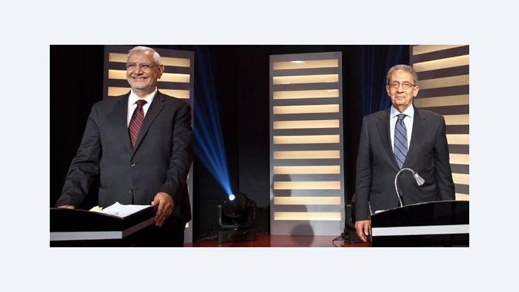 المناظرة الرئاسية الأولى في مصر: الصورة د ب ا