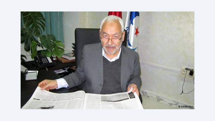 راشد الغنوشي رئيس حزب النهضة الإسلامي التونسي