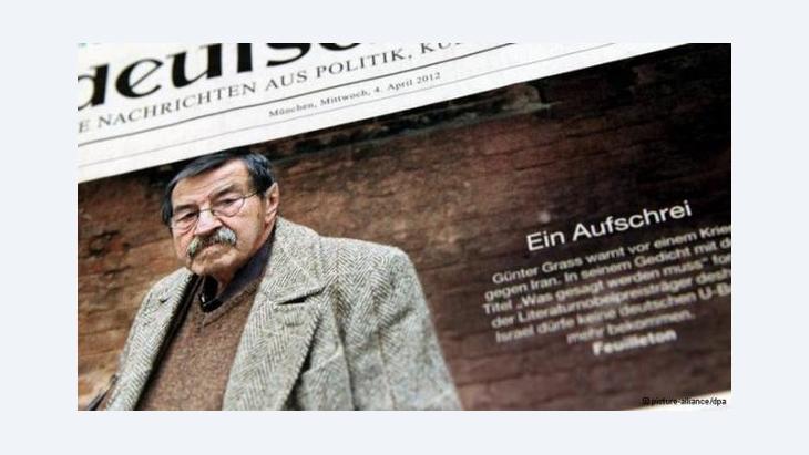 شبه الأديب الألماني الحائز على جائزة نوبل في الآداب غونتر غراس، الذي يخوض حرباً كلامية مع إسرائيل، قرار منعه من دخول إسرائيل بالحظر الذي فرضته عليه الشرطة ألمانيا الشرقية