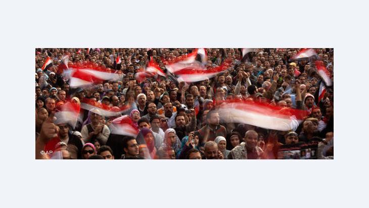 ميدان التحرير في القاهرة عام 2011، أ ب