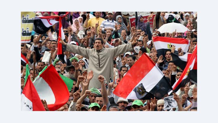 مظاهرات في ميدان التحرير قبل الثورة المصرية