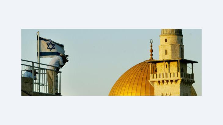 سيد قشوع مؤلف وصحفي عربي فلسطيني يحمل الجنسية الإسرائيلية، الصورة أ.ب