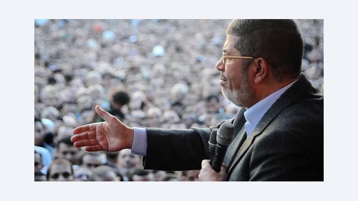 الرئيس المصري محمد مرسي. 23 نوفمبر 2012 . إ ب أ
