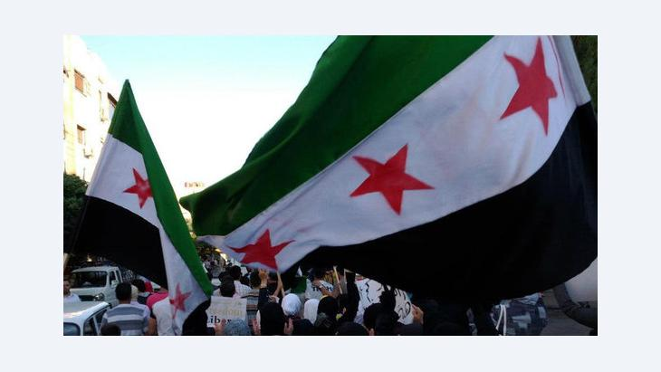 مظاهرات ضد النظام في دمشق. رويترز