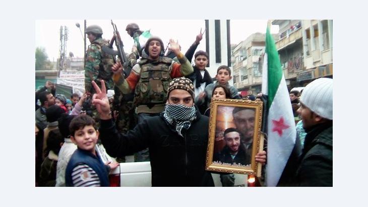 مهمة الجيش الحر في حمص كانت منذ البداية حماية المتظاهرين، الصورة رويترز