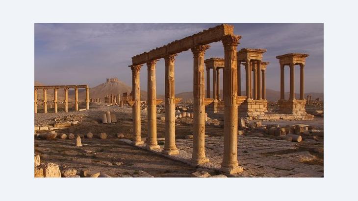 مدينة تدمر الصحراوية التي تعد رمز ب�