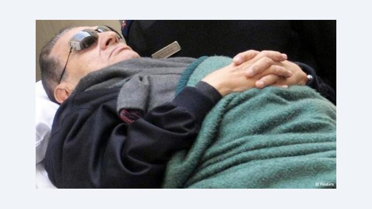 محاكمة الرئيس المصري المخلوع مبارك.