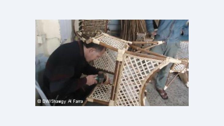صناعة الخيزران في غزة- ضحية المنتجات الصينية  الصورة شوق الفرا