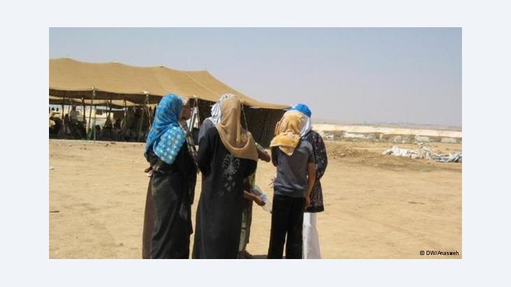 أوضاع اللاجئات السوريات في الأردن: الصورة دويشته فيله