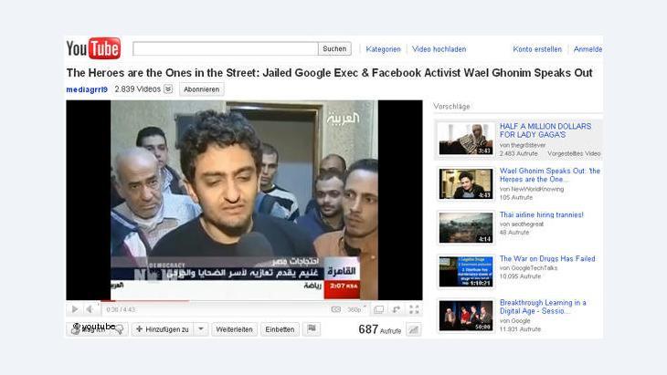 وائل غنيم الذي أصبح رمزا للمدونين الذين قادوا الثورة التي أطاحت بمبارك في مصر