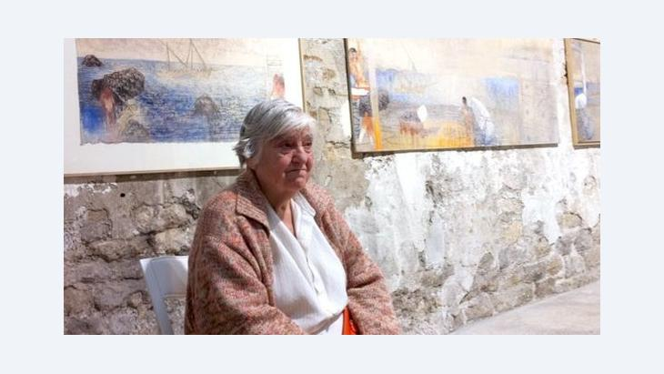 الشاعرة والفنَّانة اللبنانية الأصل إيتيل عدنان الصورة نورما كول