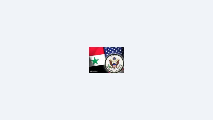 صورة رمزية عن العلاقات الأمريكية السورية، الصورة أ ب