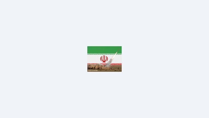 صورة رمزية، العلم الإيراني وتجارب صواريخ طويلة المدى