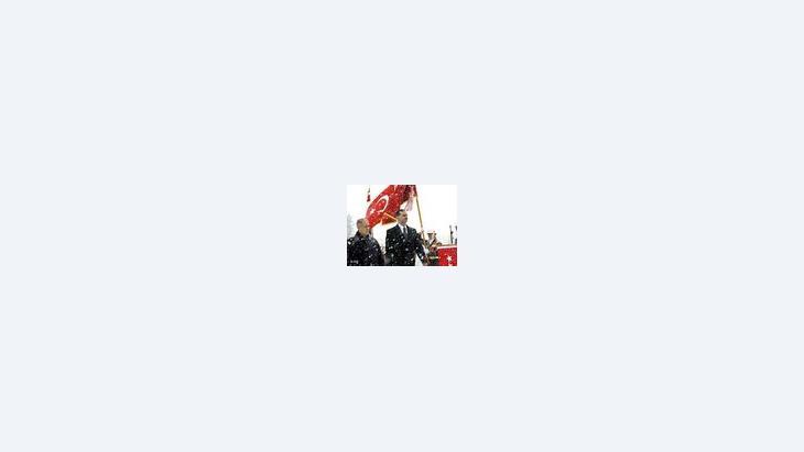 رئيس الجمهورية السوري بشار الأسد ورئيس الجمهورية التركي سيزير، الصورة: أ ب