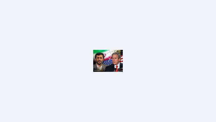 الرئيسان الأمريكي بوش والإيراني أحمدي نجاد، الصورة: أ.ب