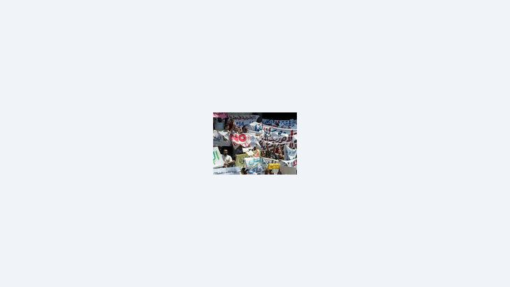 متظاهرون من الإخوان المسلمين، الصورة أ.ب