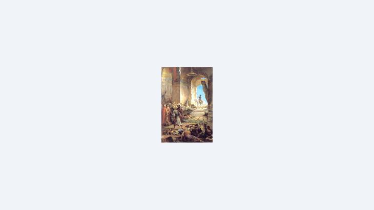 لوحة تأريخية تصوّر دخول نابليون المسجد الأزهر بريشة الفنان هنري ليوبولد ليفري