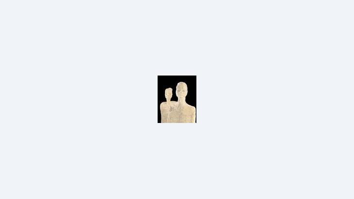 تمثالان من الكلس من عين غزال، الصورة: صالة الفنون والمعارض لجمهورية ألمانيا الاتحادية