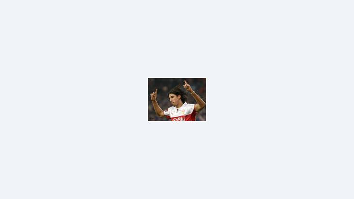 اللاعب التونسي الألماني  سامي خضيرة، الصورة: أ.ب