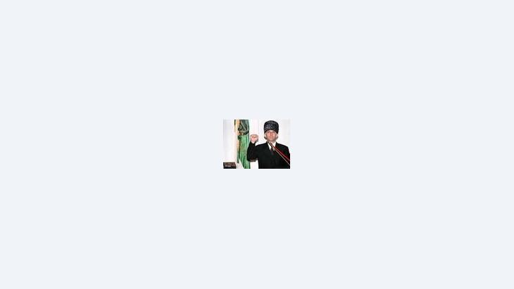 الرئيس الانفصالي الشيشاني السابق أصلان مسخادوف، الصورة: د ب أ