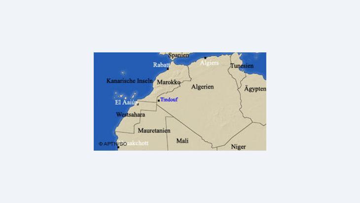 خريطة تبين دول المغرب العربي