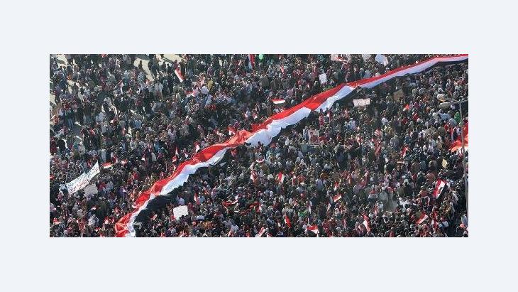ميدان التحرير هو قلب الثورة المصرية، الصورة ا.ب