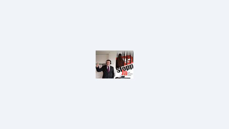 """- فالتر فوبمان Walter Wobmann النائب عن """"حزب الشعب السويسري"""" ، الصورة: ا.ب"""