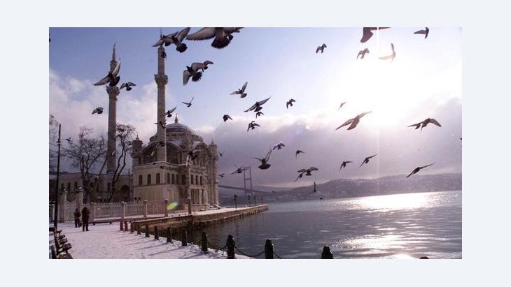 جامع أورتاكوي في اسطنبول. أ ب
