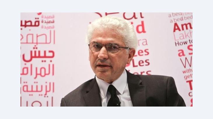 الكاتب السوري نهاد سيريس. الصورة: معرض أبو ظبي
