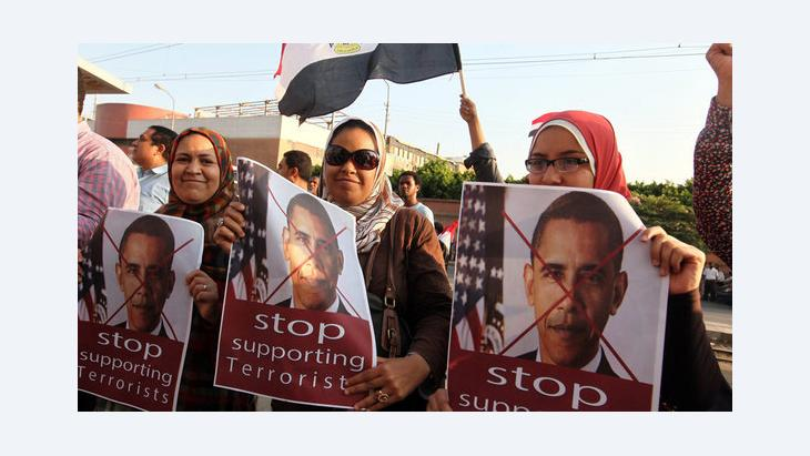 احتجاج ضد أوباما في القاهرة بعد الإطاحة بمرسي. رويترز